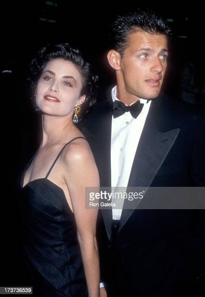 Actor Sherilyn Fenn and actor Costas Mandylor attend the 'Great Balls of Fire' West Hollywood Premiere on June 29 1989 at the DGA Theatre in West...