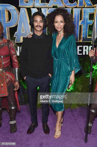 Actor Sherri Saum and guest at the Los Angeles World Premiere of Marvel Studios' BLACK PANTHER at Dolby Theatre on January 29 2018 in Hollywood...
