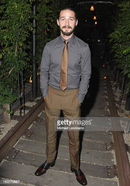 Actor Shia LaBbeouf attends the after party for The Cinema Society Manifesto Yves Saint Laurent screening of The Weinstein Company's Lawless at...