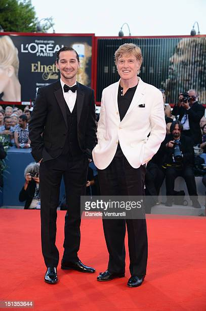 Actor Shia LaBeouf and director and actor Robert Redford attend 'The Company You Keep' Premiere during The 69th Venice Film Festival at the Palazzo...