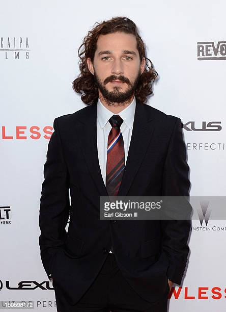 Actor Shia LaBeouf arrives at LAWLESS premiere in Los Angeles hosted By DeLeon and Presented by The Weinstein Company Revolt Films Yucapia Films and...