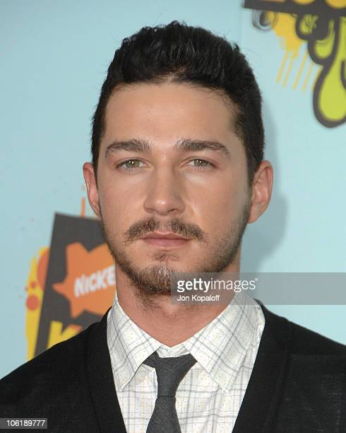 Actor Shia LaBeouf arrives at Nickelodeon's 2008 Kids' Choice Awards at the Pauley Pavilion on March 29 2008 in Los Angeles California