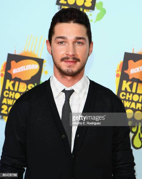 Actor Shia LaBeouf arrives at Nickelodeon's 2008 Kids' Choice Awards held at UCLA's Pauley Pavilion on March 29 2008 in Westwood California