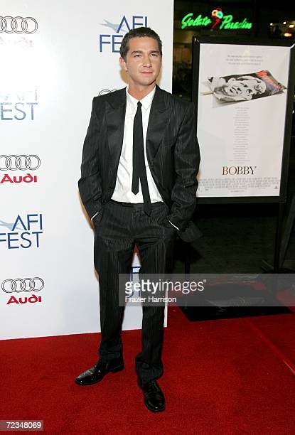Actor Shia LaBeouf arrives at the AFI FEST presented by Audi opening night gala of Bobby at the Grauman's Chinese Theatre on November 1 2006 in...