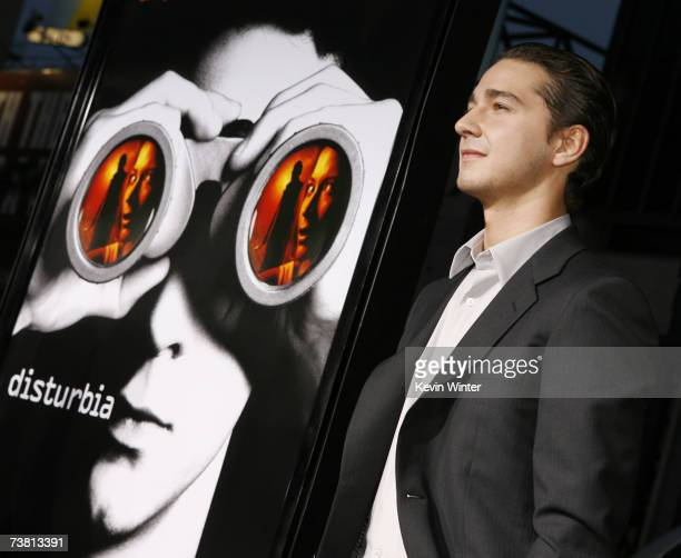 Actor Shia LaBeouf arrives at the premiere of Paramount Picture's Disturbia at the Chinese Theater on April 4 2007 in Los Angeles California