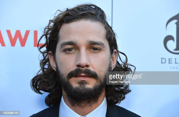 Actor Shia LaBeouf arrives at the Premiere of the Weinstein Company's Lawless at ArcLight Cinemas on August 22 2012 in Hollywood California
