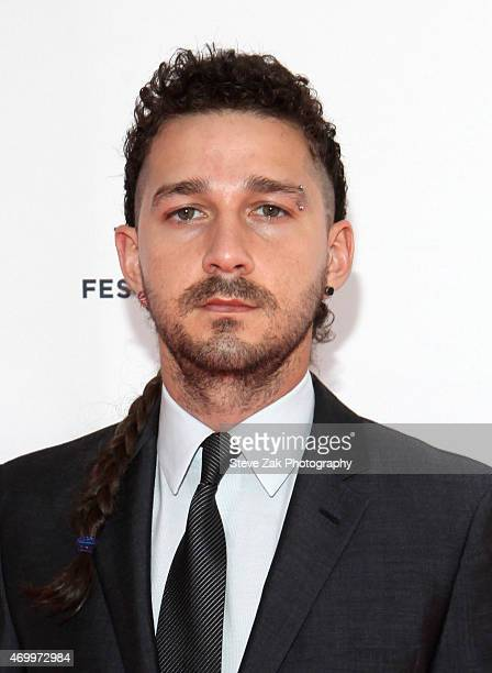 Actor Shia LaBeouf attends 2015 Tribeca Film Festival work in progress documentary LoveTrue at SVA Theatre 2 on April 16 2015 in New York City