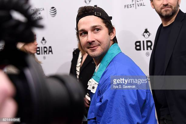 Actor Shia LaBeouf attends 'LoveTrue' Premiere 2016 Tribeca Film Festival at SVA Theatre 1 on April 15 2016 in New York City