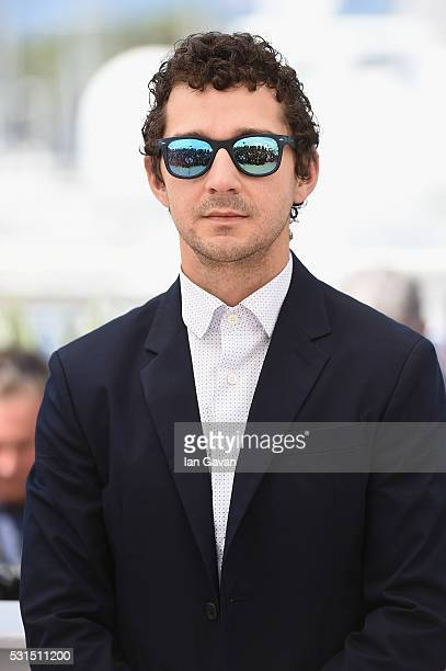 Actor Shia LaBeouf attends the American Honey photocall during the 69th annual Cannes Film Festival at the Palais des Festivals on May 15 2016 in...