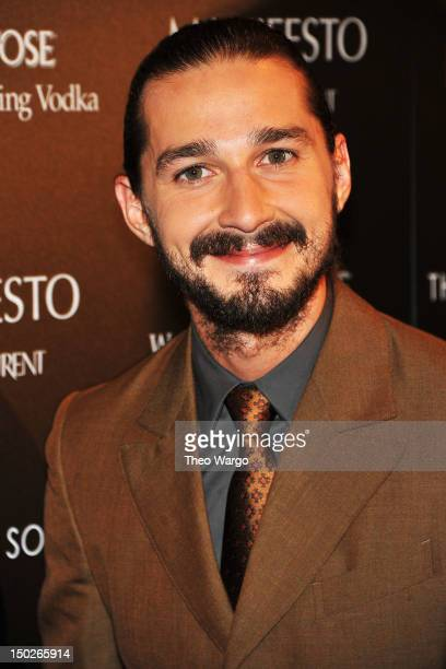 Actor Shia LaBeouf attends The Cinema Society Manifesto Yves Saint Laurent screening of The Weinstein Company's Lawless at The Paley Center for Media...
