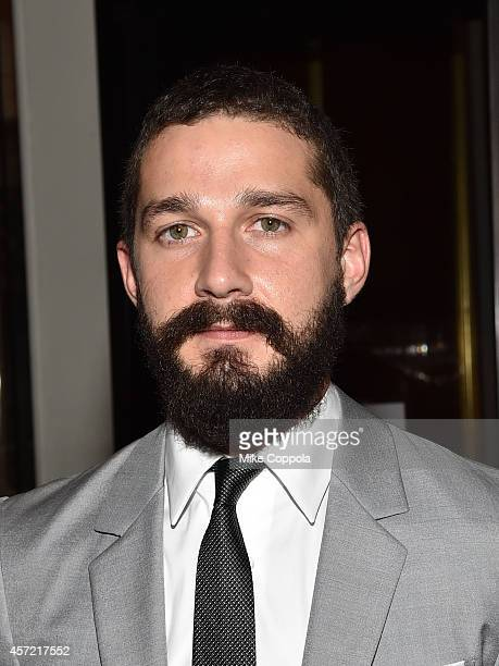 Actor Shia LaBeouf attends the 'Fury' New York premiere at DGA Theater on October 14 2014 in New York City