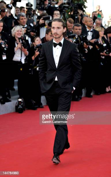 Actor Shia LaBeouf attends the Lawless Premiere during the 65th Annual Cannes Film Festival at Palais des Festivals on May 19 2012 in Cannes France