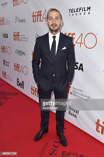 Actor Shia LaBeouf attends the 'Man Down' premiere during the 2015 Toronto International Film Festival at Roy Thomson Hall on September 15 2015 in...