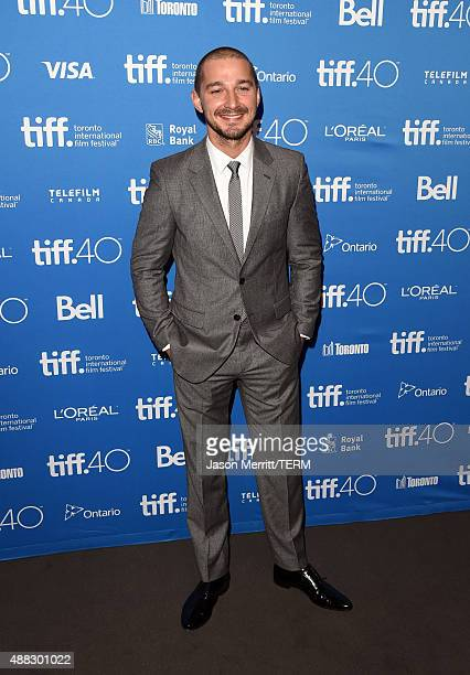 Actor Shia LaBeouf attends the 'Man Down' press conference at the 2015 Toronto International Film Festival at TIFF Bell Lightbox on September 15 2015...