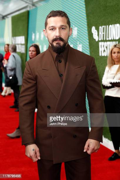 """Actor Shia LaBeouf attends """"The Peanut Butter Falcon"""" UK Premiere during 63rd BFI London Film Festival at the Embankment Gardens Cinema on October..."""