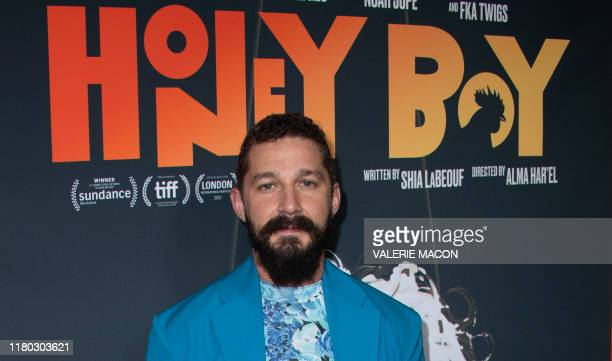 US actor Shia LaBeouf attends the premiere of Amazon Studios' Honey Boy at the Arclight Hollywood Cinerama Dome November 5 in Hollywood