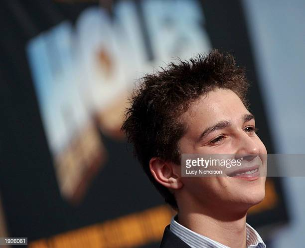 """Actor Shia LaBeouf attends the premiere of """"Holes"""" on April 11, 2003 in Hollywood, California."""