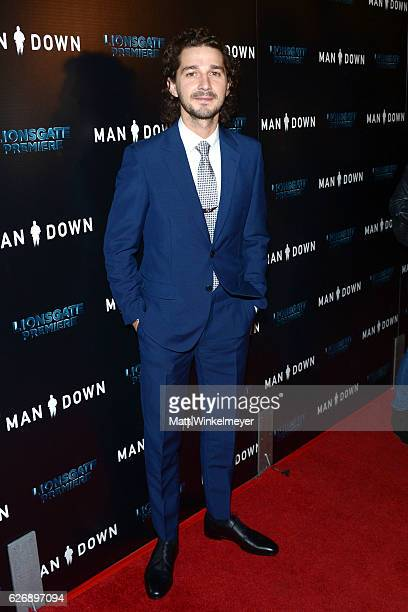 Actor Shia LaBeouf attends the premiere of Lionsgate Premiere's 'Man Down' at ArcLight Hollywood on November 30 2016 in Hollywood California