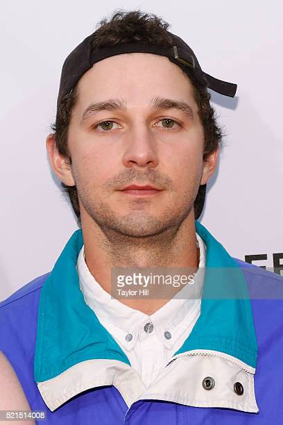 Actor Shia LaBeouf attends the premiere of 'LoveTrue' during the 2016 TriBeCa Film Festival on April 15 2016 in New York City