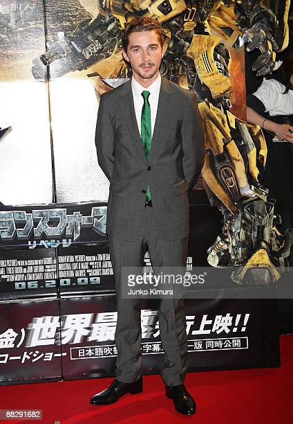Actor Shia LaBeouf attends the Transformers Revenge of the Fallen World Premiere at Roppongi Hills on June 8 2009 in Tokyo Japan The film will open...
