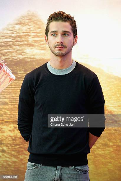 Actor Shia LaBeouf attends Transformers Revenge of the Fallen press conference at Kring on June 10 2009 in Seoul South Korea The film will open on...