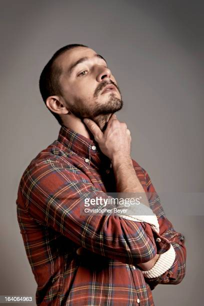 Actor Shia LaBeouf is photographed at the Sundance Film Festival for Entertainment Weekly Magazine on January 22 2013 in Park City Utah