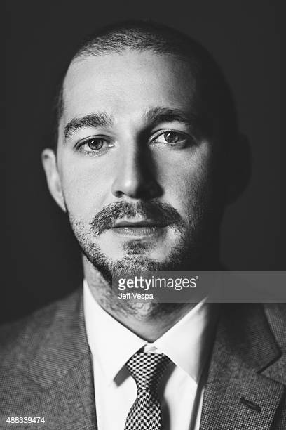 Actor Shia LaBeouf of 'Man Down ' poses for a portrait at the 2015 Toronto Film Festival at the TIFF Bell Lightbox on September 15 2015 in Toronto...