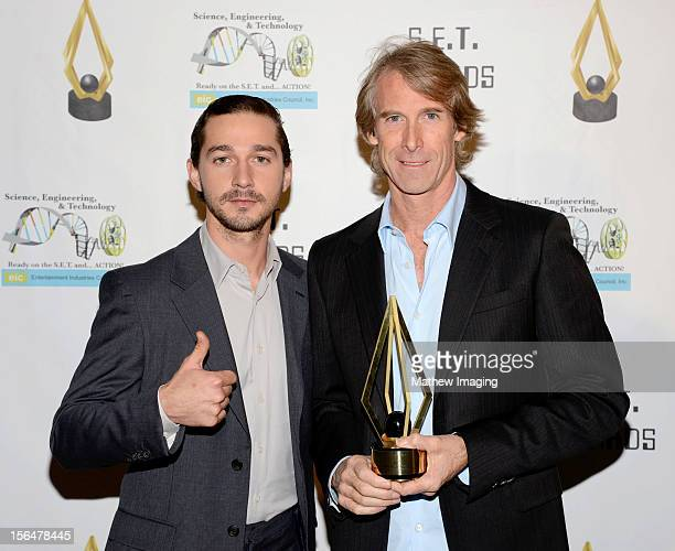 Actor Shia LeBeouf and Director/Producer Michael Bay attend the 2nd Annual SET Awards which took place at Beverly Hills Hotel on November 15 2012 in...