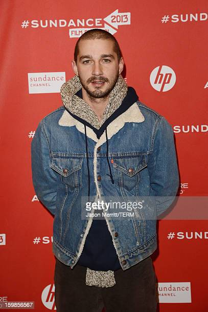 Actor Shia LeBouf attends 'The Necessary Death Of Charlie Countryman' premiere at Eccles Center Theatre during the 2013 Sundance Film Festival on...