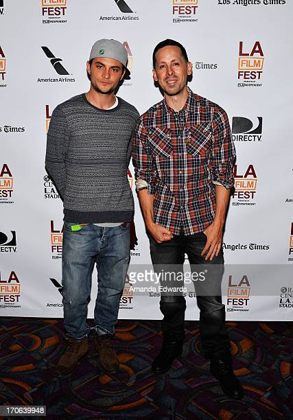 Actor Shiloh Fernandez and producer Jav lovato arrive at the Tapia premiere during the 2013 Los Angeles Film Festival at Regal Cinemas LA Live on...