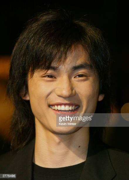 Actor Shin Koyamada attends the WB's premiere of The Last Samurai at the Mann's Village Theatre December 1 2003 in Los Angeles California