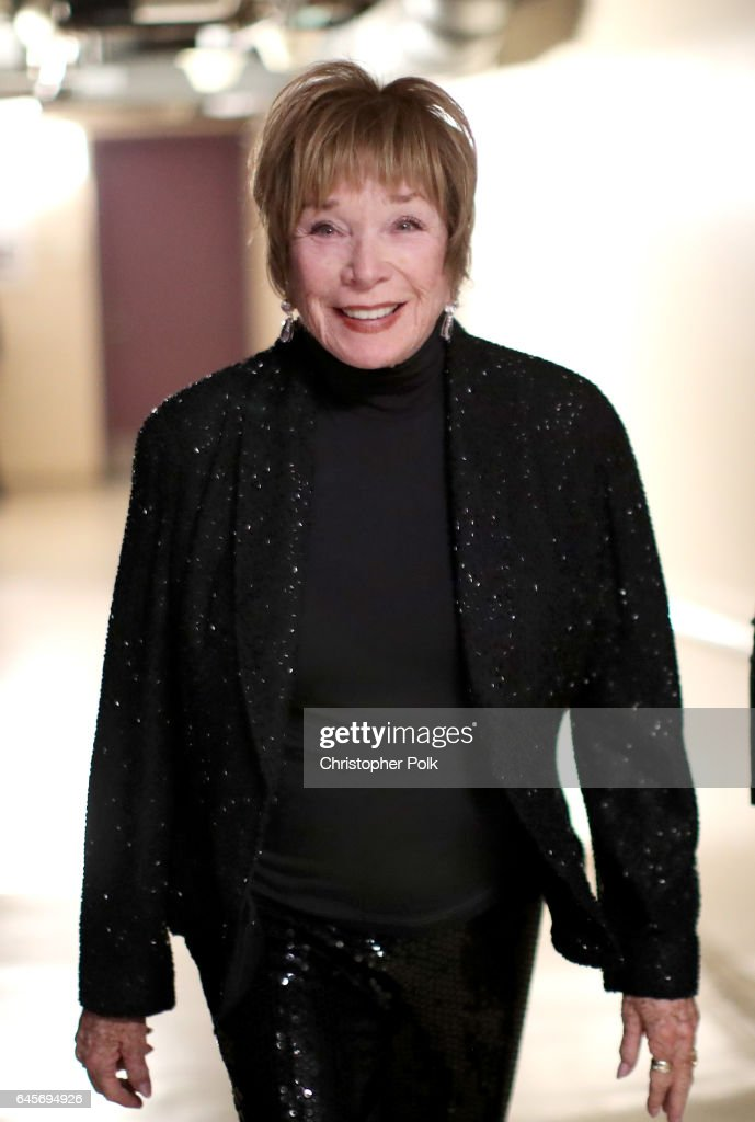Actor Shirley MacLaine poses backstage during the 89th Annual Academy Awards at Hollywood & Highland Center on February 26, 2017 in Hollywood, California.