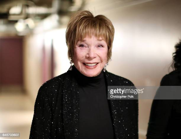 Actor Shirley MacLaine poses backstage during the 89th Annual Academy Awards at Hollywood Highland Center on February 26 2017 in Hollywood California