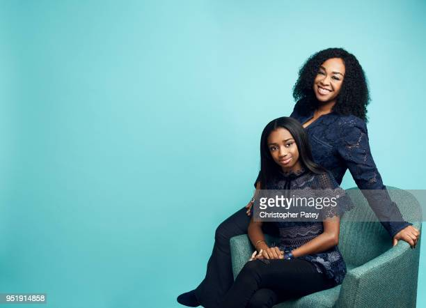 Actor Shonda Rhimes and daughter Harper are photographed for the Hollywood Reporter on November 27, 2017 in Los Angeles, California.