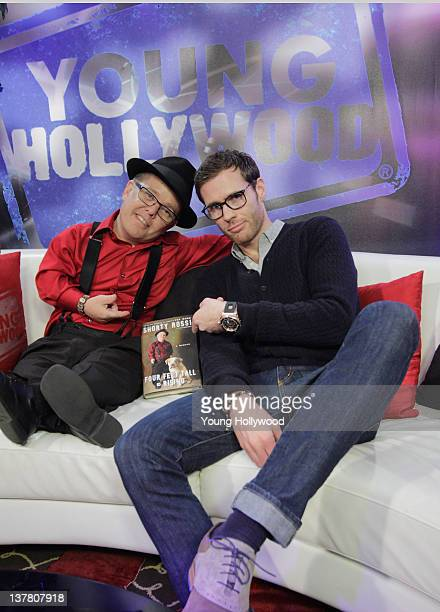 Actor Shorty Rossi and host Oliver Trevena at the Young Hollywood Studio on January 18 2012 in Los Angeles California