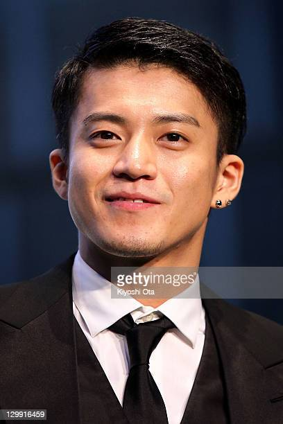 Actor Shun Oguri attends the 24th Tokyo International Film Festival Opening Ceremony at Roppongi Hills on October 22 2011 in Tokyo Japan One of...