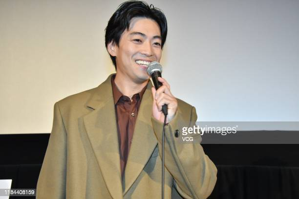 Actor Shunsuke Daito attends '37 Seconds' premiere during Tokyo International Film Festival 2019 on October 29 2019 in Tokyo Japan