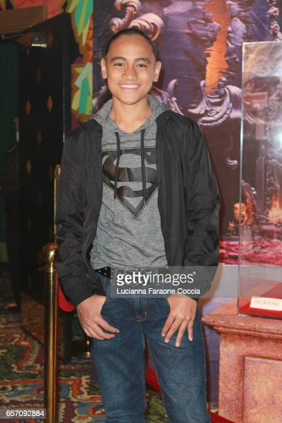 "Actor Siaki Sii attends Red Walk special screening of Disney's ""Beauty And The Beast"" at El Capitan Theatre on March 23, 2017 in Los Angeles,..."