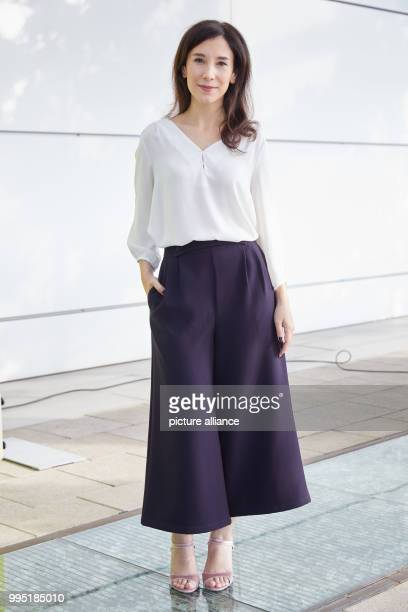 Actor Sibel Kekilli at the German public broadcaster ZDFneo's presentation of two new television series in the ZDF studio in Hamburg Germany 22...