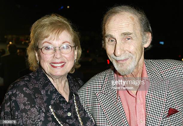 Actor Sid Caesar and his wife Florence Levy arrive at the Arclight Cinema for the 40th Anniversary screening of the movie 'It's a Mad Mad Mad Mad...
