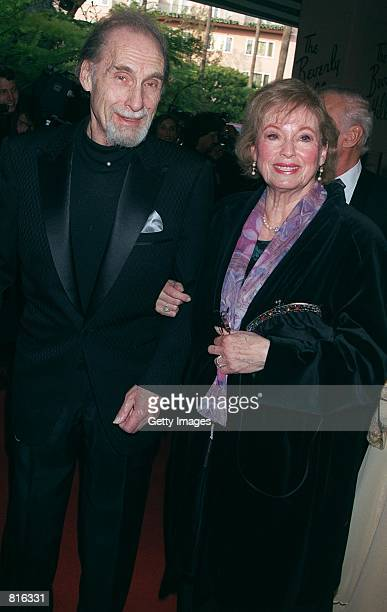 Actor Sid Caesar and his wife Florence Levy attend the 10th Annual Night of 100 Stars Gala Oscar party March 25 2001 at the Beverly Hills Hotel in...