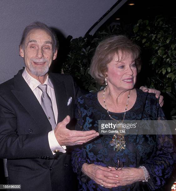Actor Sid Caesar and wife attend Friar's Club 50 Years in Television Gala on October 29 1999 at the Friar's Club in Beverly Hills California