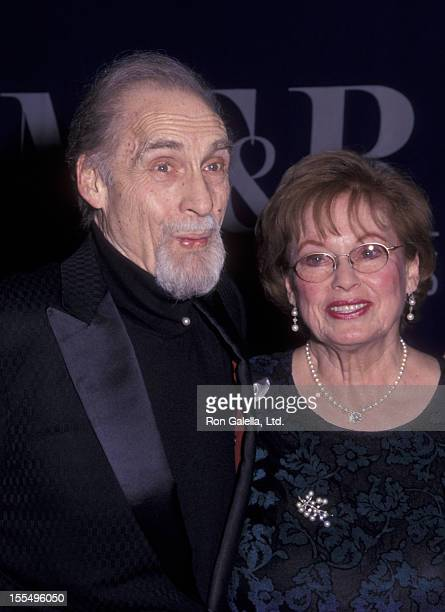 Actor Sid Caesar and wife attend Museum of Television and Radio Tribute Honoring Sid Caesar on February 9 2000 at the Waldorf Astoria Hotel in New...