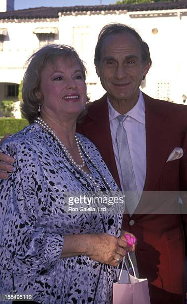 Actor Sid Caesar and wife Florence Caesar attend 25th Anniversary Party for Renee Taylor and Joseph Bologna on August 19 1990 in Beverly Hills...