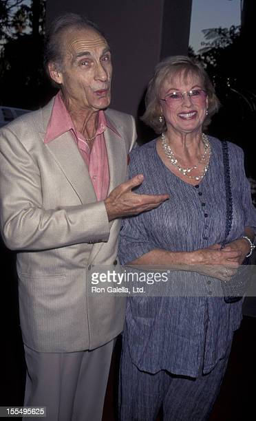 Actor Sid Caesar and wife Florence Caesar attend ABC TV Fall Affiliates Party on September 12 1995 at the Beverly Hills Hotel in Beverly Hills...