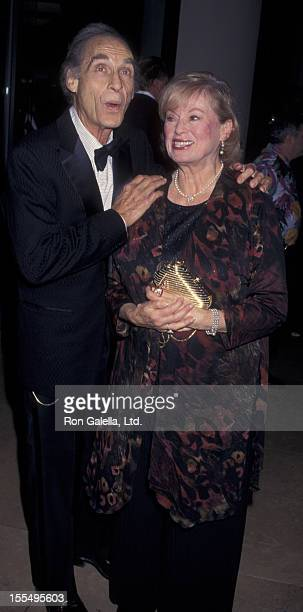 Actor Sid Caesar and wife Florence Caesar attend American Comedy Awards on August 23 1997 at the Beverly Hilton Hotel in Beverly Hills California