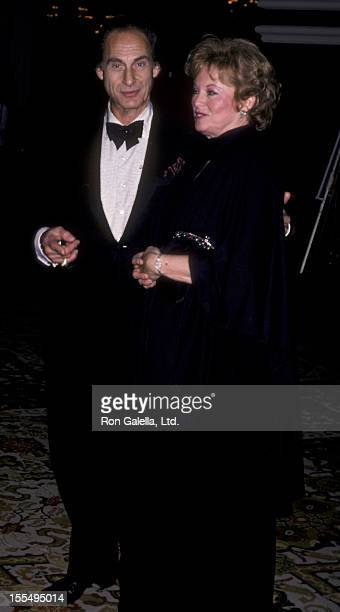 Actor Sid Caesar and wife Florence Caesar attend Friar's Club Roast Honoring Gene Kelly on November 9 1985 at the Beverly Hilton Hotel in Beverly...