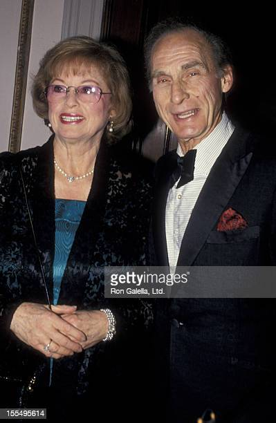 Actor Sid Caesar and wife Florence Caesar attend Friar's Club Tribute Honoring Barbara Walters on May 7 1994 at the Waldorf Astoria Hotel in New York...