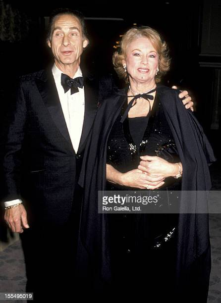 Actor Sid Caesar and wife Florence Caesar attend Myasthenia Gravis Foundation Humanitarian Awards Gala on March 15 1986 at the Beverly Hilton Hotel...