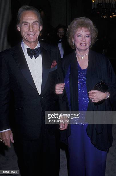 Actor Sid Caesar and wife Florence Caesar attend Partially Eyesighted Benefit Gala on June 2 1989 at the Beverly Hilton Hotel in Beverly Hills...
